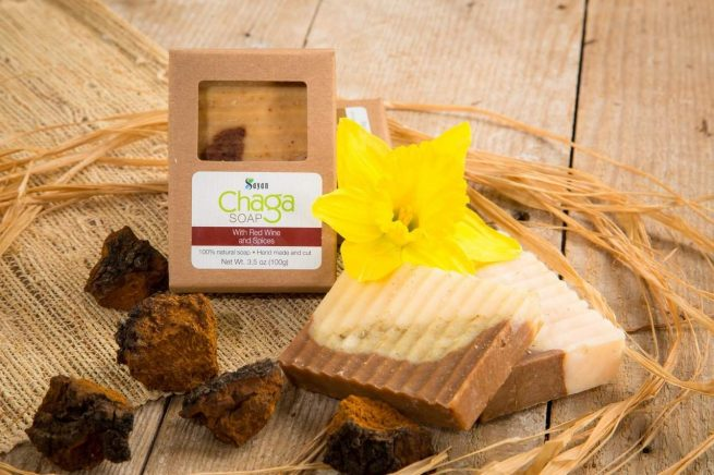 Chaga Soap with Red Wine